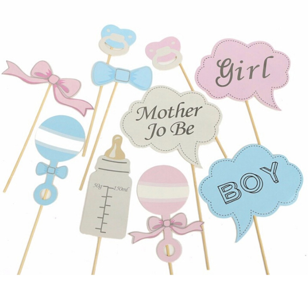 New Party Gifts Photo Booth Props DIY Bottle Baby Shower Boy Girl ...