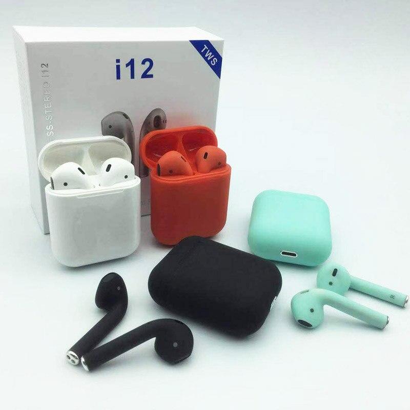 Mini i12 TWS Bluetooth sans fil écouteur PK i10 i11 air gousses Vrai Bluetooth sans fil 5.0 casque tactile écouteurs binaural appel