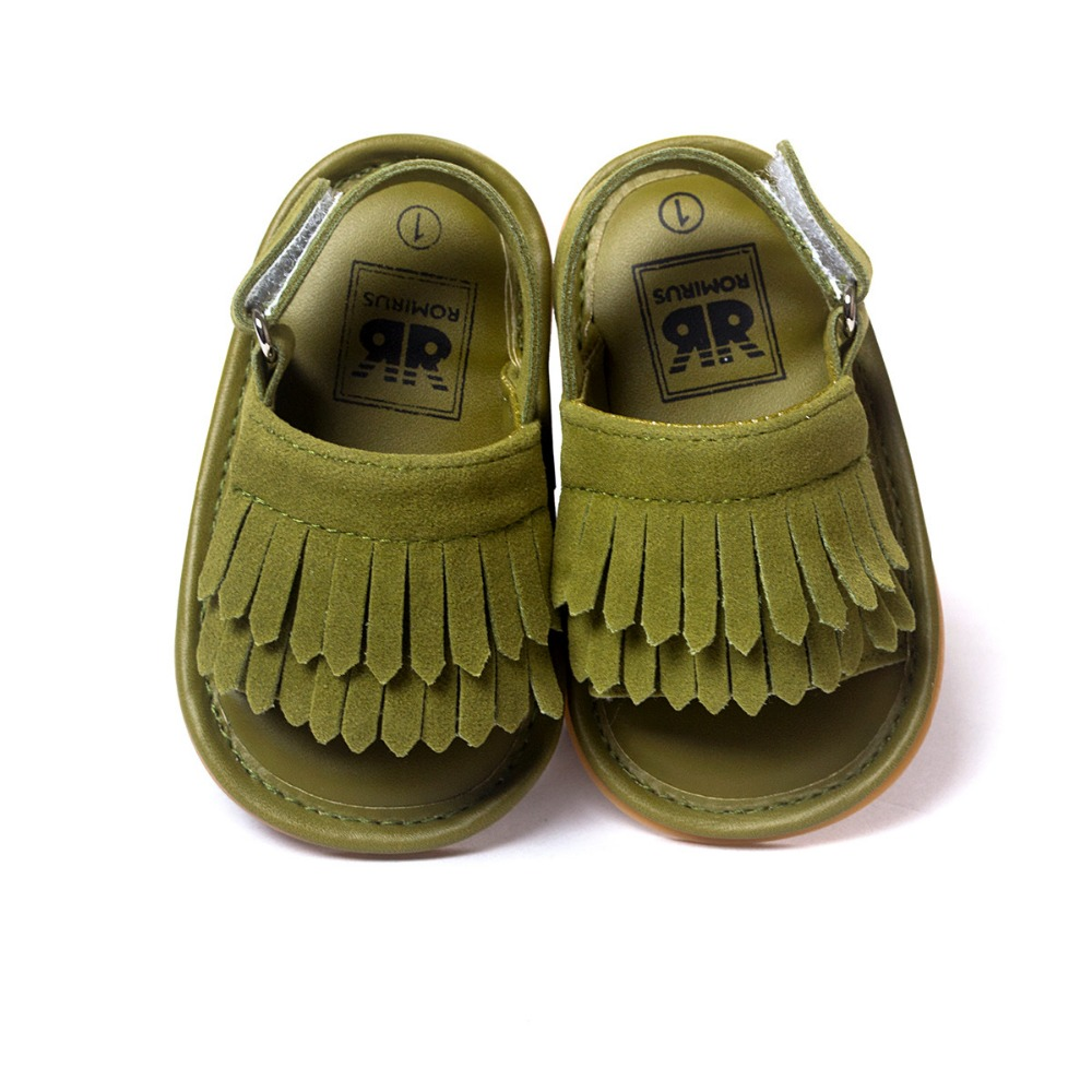 sommer læder nyfødte baby drenge sandaler kvast baby mocassins hot moccs baby piger sandaler 0 ~ 18month.CX16C