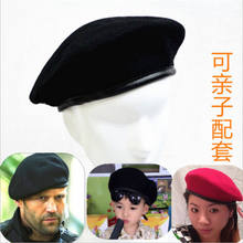 Military Army Soldier Hat Men&Women Solid Basic Wool Beret Uniform Cap Classic Artist(China)