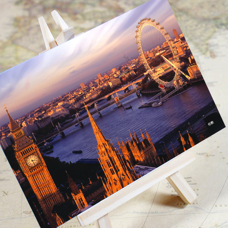 Search For Flights 6pcs/set charming City Series London Urban Landscape Postcard /greeting Card/birthday Card/christmas Gifts Business Cards Office & School Supplies