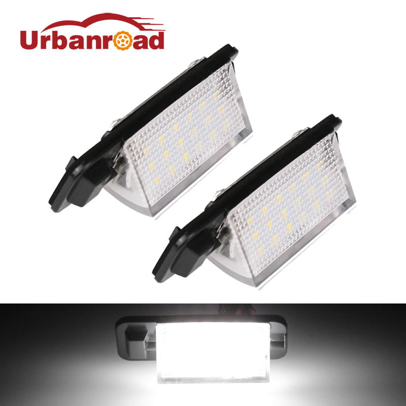 Urbanroad For BMW E36 Led License Plate Light For BMW E36 318i 318is 318ti 325i 328i 2835 SMD 18 Led Car Number Plate Lamp Light for bmw 3 series e36 318 328 323 325 front coilover strut camber plate top mount green drift front domlager top upper mount