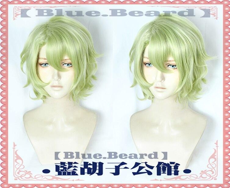 Anime Ensemble Stars Eve Tomoe Hiyori Cosplay Wig Short Matcha Curly Light Green Heat Resistant Synthetic Hair Wig + Wig Cap