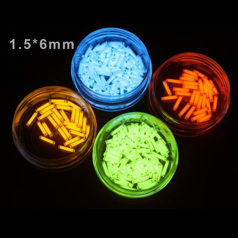 1PC 1.5*6mm Tritium Gas Tube Self Luminous 25 Years High-tech Products EDC Outdoor Camping Emergency Equipment Accessories