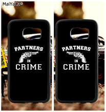 BFF partner in crime soft TPU edge cell phone cases for samsung s6 plus s7 s8 s9 s10 lite e note 8 9 case