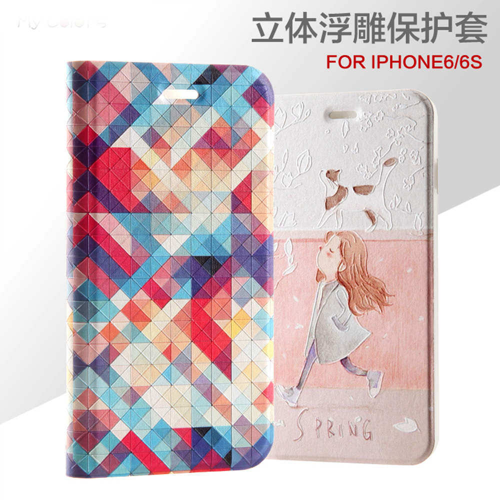 POEME CREATION Mobile Phone Accessories PU Leather Wallet Design Mobile Phone Case for iPhone X 6 6S 7 8 Plu