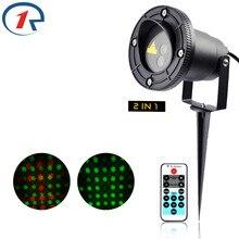 ZjRight Дистанционного управления Красный Зеленый Динамичный лазерный свет Рождества Открытый Водонепроницаемый лазерная проекционная лампа Бар DJ стороны этап свет