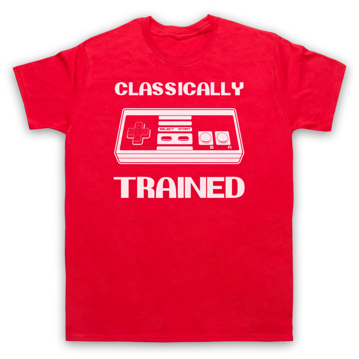 COMPUTER VIDEO GAME FUNNY CLASSICALLY TRAINED RETRO NES T-SHIRT MENS LADIES KIDS