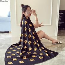 Women Cotton Scarves and Inverno Shawl For Ladies Bear Printing High Quality Warm Plus Size Wrap Winter&Autumn Scarf SC2965