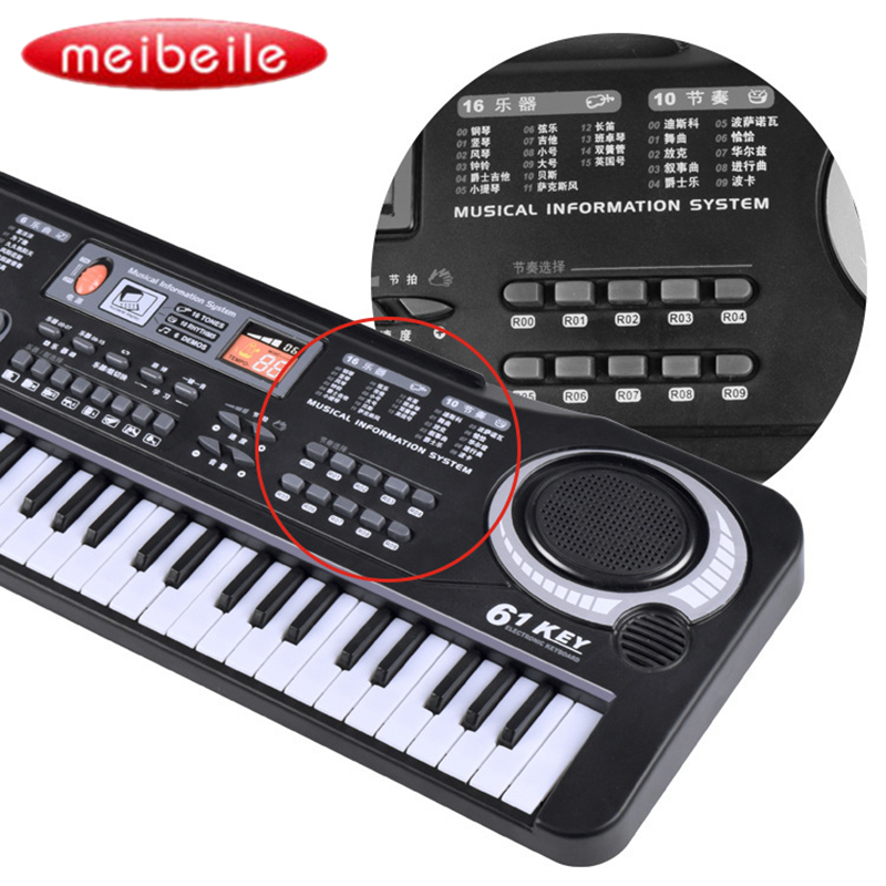 61 Keys Digital Music Electronic Keyboard Vocal Toys Electric Piano Professional Musical Instruments Educational Toys flanger professional pianist orthotics piano trainers