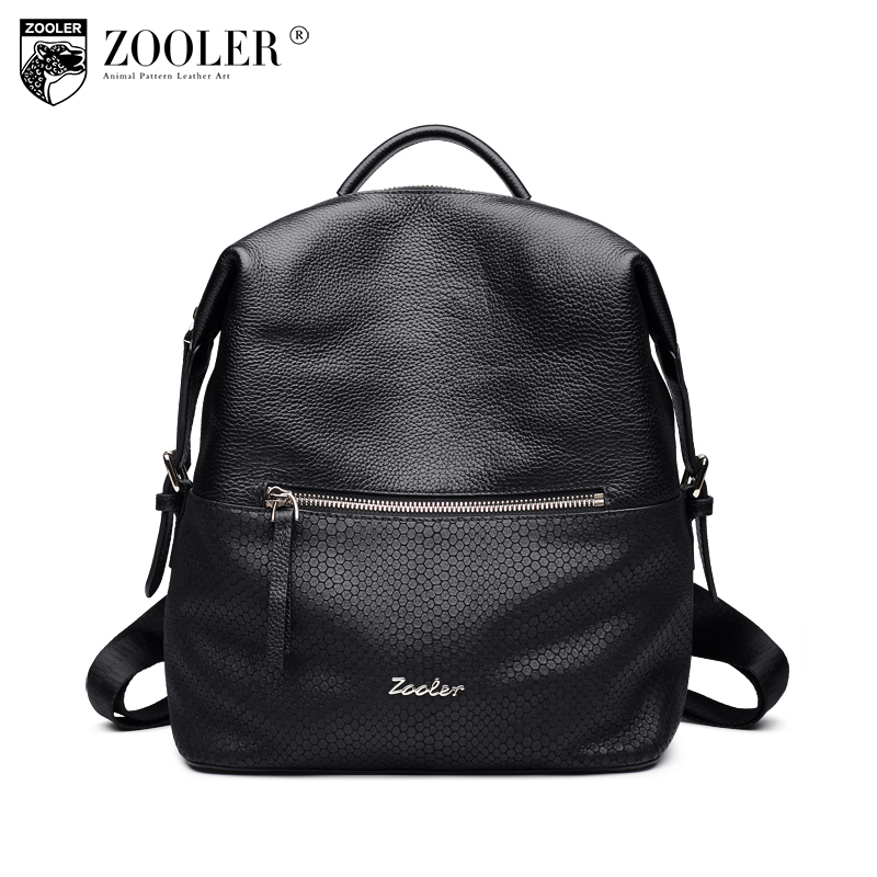 ZOOLER Fashion Genuine Leather Travel Backpacks for Middle Schoolbag for Teenager Girls Bags Sac A Dos Femme Mochilas Mujer 2017 2017 new women leather backpacks bolsas mochila feminina large girls schoolbag travel bag solid candy color femme sac a dos