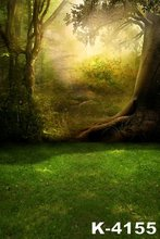 Background Photo Studio Forest 5x7ft Sunshine Props Photography Backdrops Computer-Painted Vinyl Digital Background Spring Photo