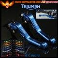 New Blue 8 Colores De Aluminio CNC Motorcycle Cortos de Embrague Del Freno Palancas Para Triumph TIGER 800/XC XCX/XR/XRX 2015 2016