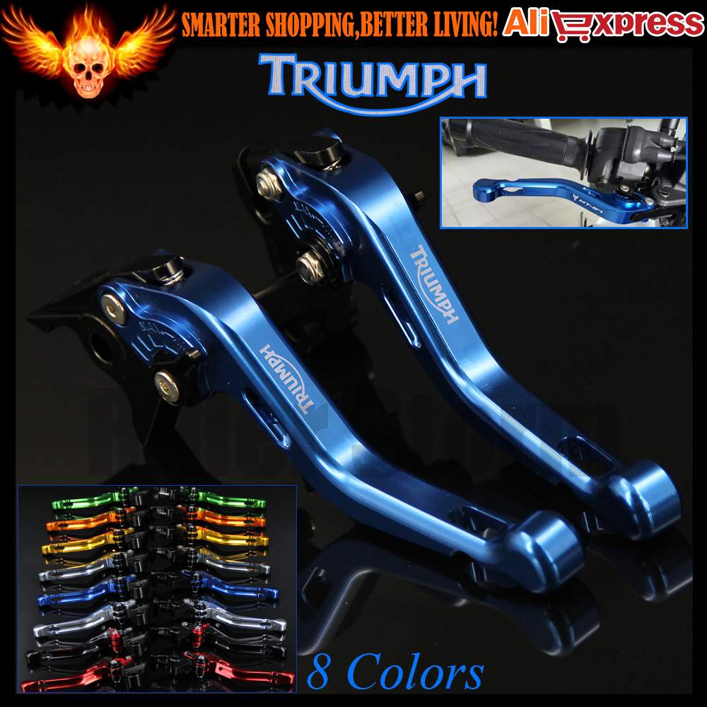 ФОТО New Blue 8 Colors CNC Aluminum Motorcycle Short Brake Clutch Levers For Triumph TIGER 800 XC/XCX/XR/XRX 2015 2016