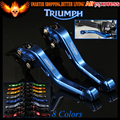 New Blue 8 Colors CNC Aluminum Motorcycle Short Brake Clutch Levers For Triumph TIGER 800 XC/XCX/XR/XRX 2015 2016