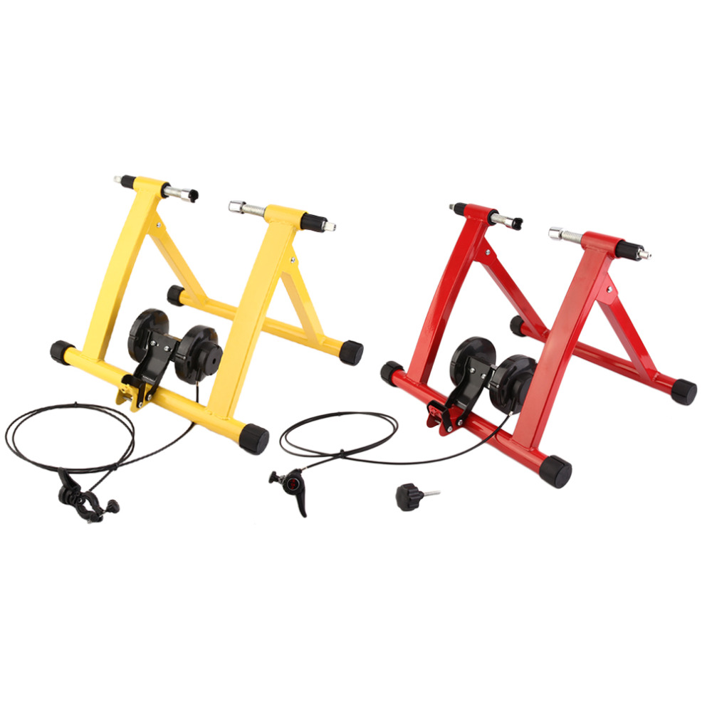 Profesional Druable Turbo Trainer Magnetic Indoor Bike Trainer Road MTB Bicycle Bag Max Weight Capacity 120kg Rack Holder Stand free indoor exercise bicycle trainer 6 levels home bike trainer mtb road bike cycling training roller bicycle rack holder stand