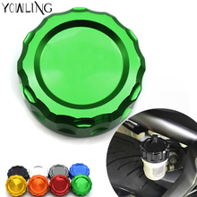 Motorcycle CNC Aluminum Rear Brake Fluid Reservoir Cover Cap For Kawasaki Z750 2007 2008 2009 2010 2011 2012 2013 2014 2015 2016 38mm motorcycle accessories rear brake reservoir cap for kawasaki z1000 2007 2013 z750 2007 2014 zx6r 07 08