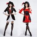 Halloween Caribbean Spanish Pirate Costume Woman Fancy Dress Cosplay for Women