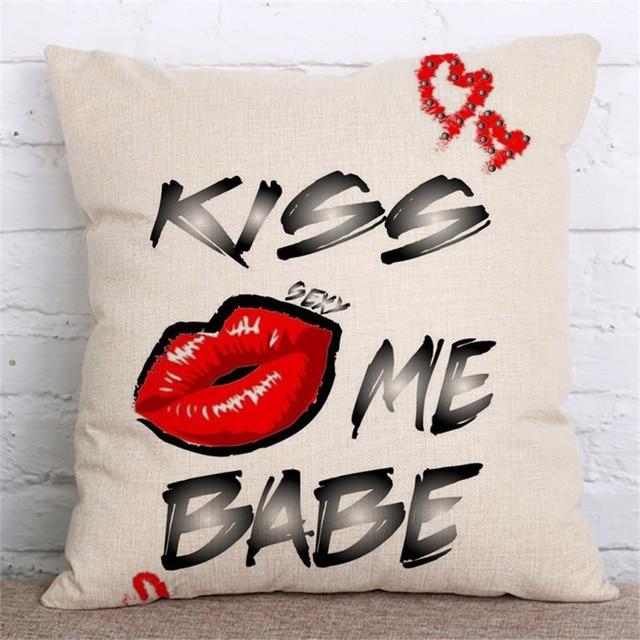 Sexy Lips Decorative Cushion Cover 4