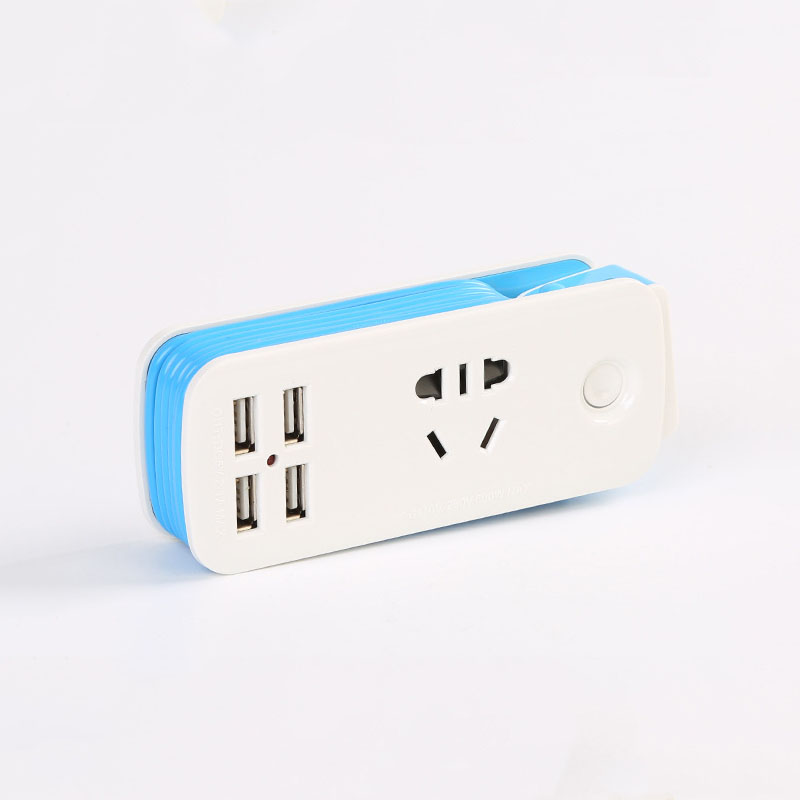 US Power Strip With 4 USB Portable Extension Socket US Plug 1 5m Cable Power Strip Travel Adapter Smart Phone Charger in Extension Socket from Consumer Electronics