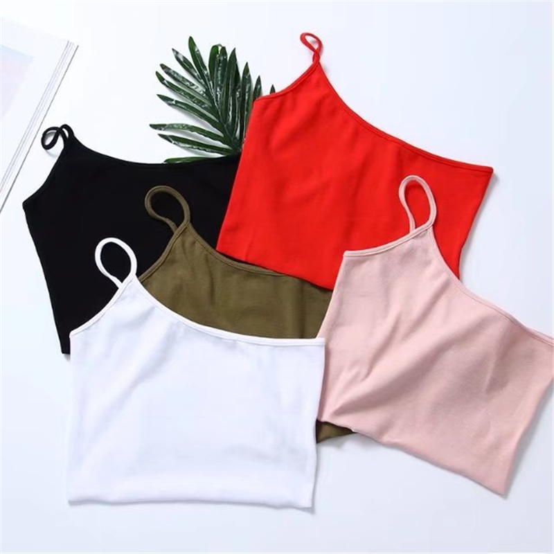 Women Sexy One Shoulder Vest knitted Cotton elastic bustier crop top Exposed Navel tops 2018 Summer sexy Slim tank 5 colors