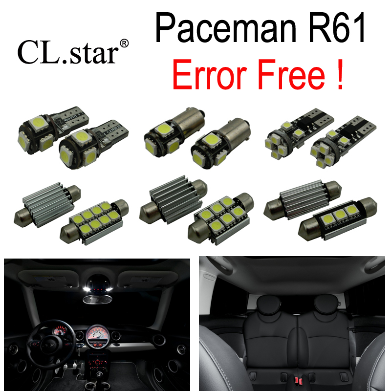 19pc X100% Canbus Error free LED Interior dome reading Light lamp Kit Package For MINI Cooper Paceman R61 (2012+)