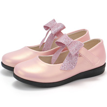 COZULMA 2019 New Children Shoes for Girls Princess Bow tie Lace Dance Kids Casual Flats Party Dress