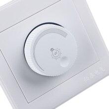 1 комплект элегантный белый 220 В светодиодный диммер Регулируемый регулятор яркости лампа накаливания регулятор яркости Диммер