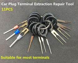 11 pcs Plugue Placa de Circuito Terminal de Chicote De Fios Do Carro Auto Extração Pick Conector Crimp Pin Agulha Para Trás Remover Tool Set