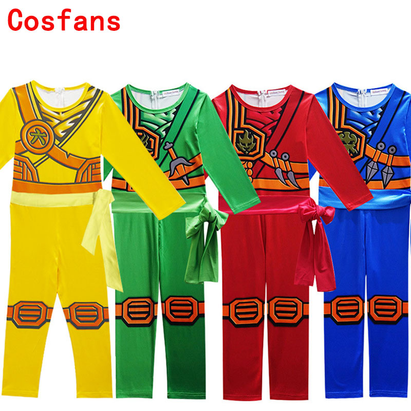 Free Shipping New Siamese Lego Phantom Ninja NINJAGO Boy Kids warrior costumes Christmas Day New Year Purim Halloween Cosplay