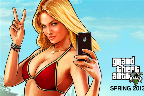 Custom Canvas Art Grand Theft Auto Poster GTA San Andreas Game Wallpaper Sexy Woman Wall Stickers Mural Bedroom Decoration #788#