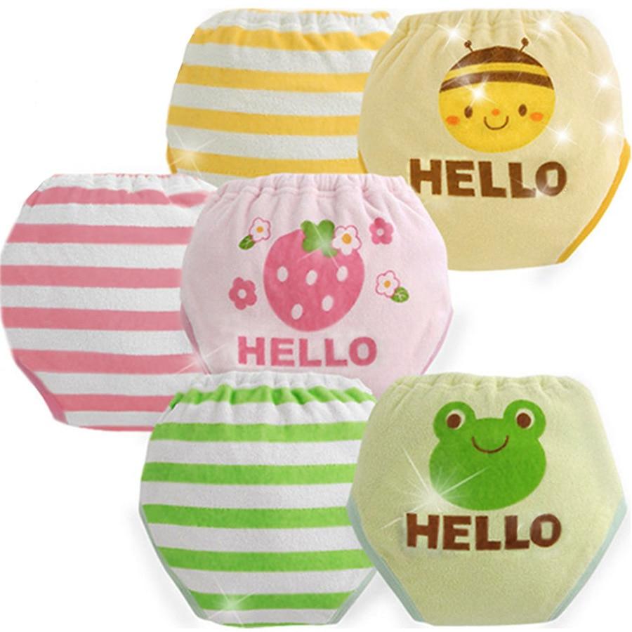2st / lot 6 lager återanvändbar baby träning shorts spädbarn blöjor vattentät babi pojke flicka pee lära sig blöjor tvättbara # 008