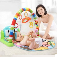 3 In 1 Baby Gym Play Rug Developing Mat Children's Educational Music Crawling Mat With Keyboard Infant Fitness Rack Carpet Toys