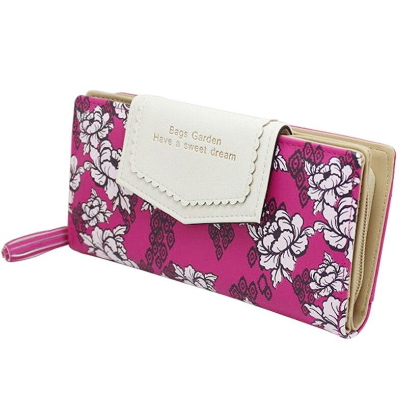 80370bcf9 Borla vindima Carteira Das Mulheres Padrão Floral Bolsa Das Senhoras Zipper  Flor Longo Carteira Clutch Bolsa de Dinheiro Cartão Titular Carteira  Feminina em ...