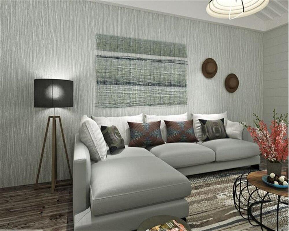 US $29.77 39% OFF Beibehang papel de parede einfache schlichten grauen  vlies gestreiften 3d tapete wohnzimmer schlafzimmer hintergrund wand voll  von ...