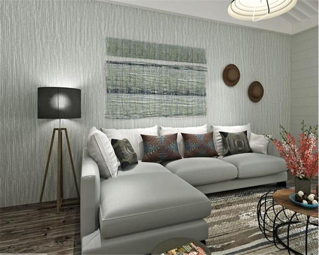 Beibehang Papel De Parede Einfache Schlichten Grauen Vlies Gestreiften 3d Tapete  Wohnzimmer Schlafzimmer Hintergrund Wand Voll