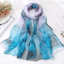 Newest Fashion Women Shawls Lotus Printing Long Soft Wrap Scarf Ladies Shawl Soft Scarves Fantastic Neckerchief Wraps Echarpe(China)