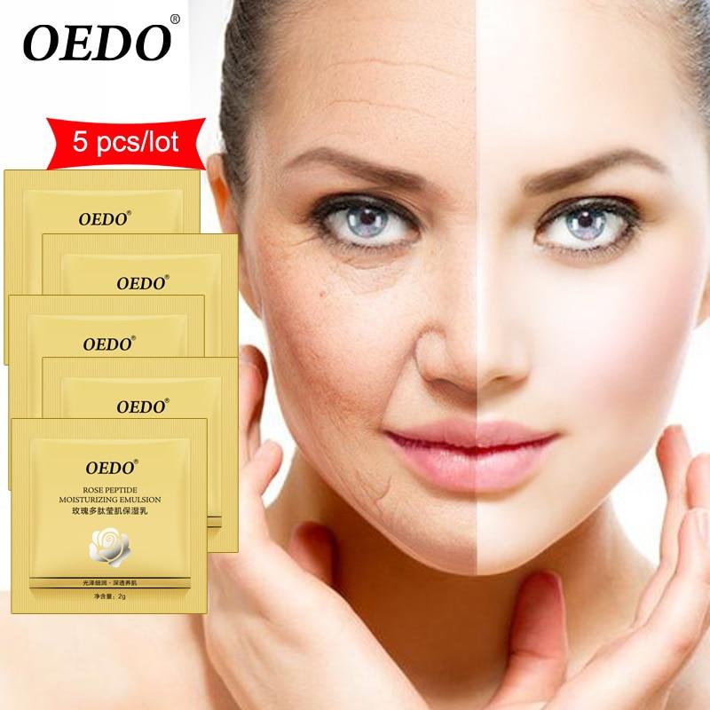 5 шт., пептид розы, увлажняющая эмульсия, уход за кожей, отбеливающий уход за лицом, антивозрастной крем против морщин, контроль жирности, восстановление воды
