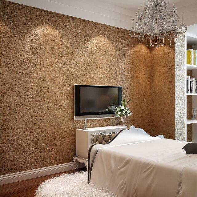 Einfache Reine Kaffee Non Woven Tapeten Bronze Amerikanischen Retro Wand  Coverring Schlafzimmer Wohnzimmer Sofa Home TV