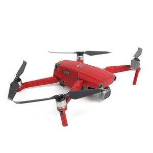 Image 2 - Pvc grão de carbono adesivos pele para dji mavic 2 pro & zoom drone decalque bateria remoto braço envoltório