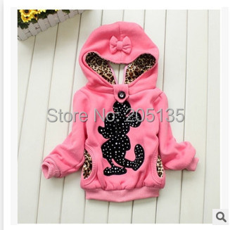 2015 de los bebés escudo Chaqueta Con Capucha para Niños invierno cálido Abrigo de Manga Larga Pullover Sweater 3 Colores 2-7Y