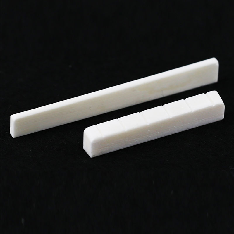 1 Pc Guitar Saddle Nut Replacement Beige Buffalo Bone Bridge Saddle Nut Slotted For Guitar Parts Accessories
