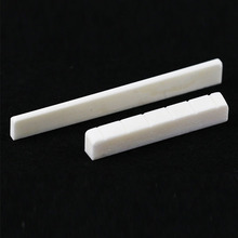 1 pc Guitar Saddle Nut Replacement Beige Buffalo Bone Bridge Slotted for Parts Accessories