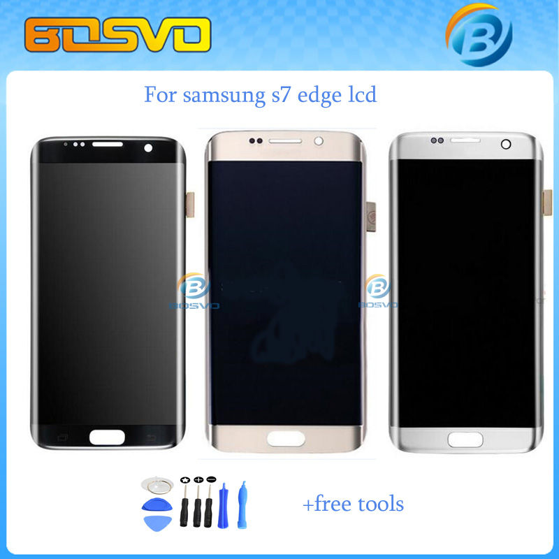 NEW Replacement Full screen for Samsung for galaxy S7 edge G9350 G935F lcd display with touch digitizer assembly + free tools