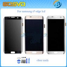 Pantalla de reemplazo Completo para Samsung para la galaxia S7 borde G9350 G935F lcd display + touch digitalizador herramientas gratuitas envío libre 1 unids