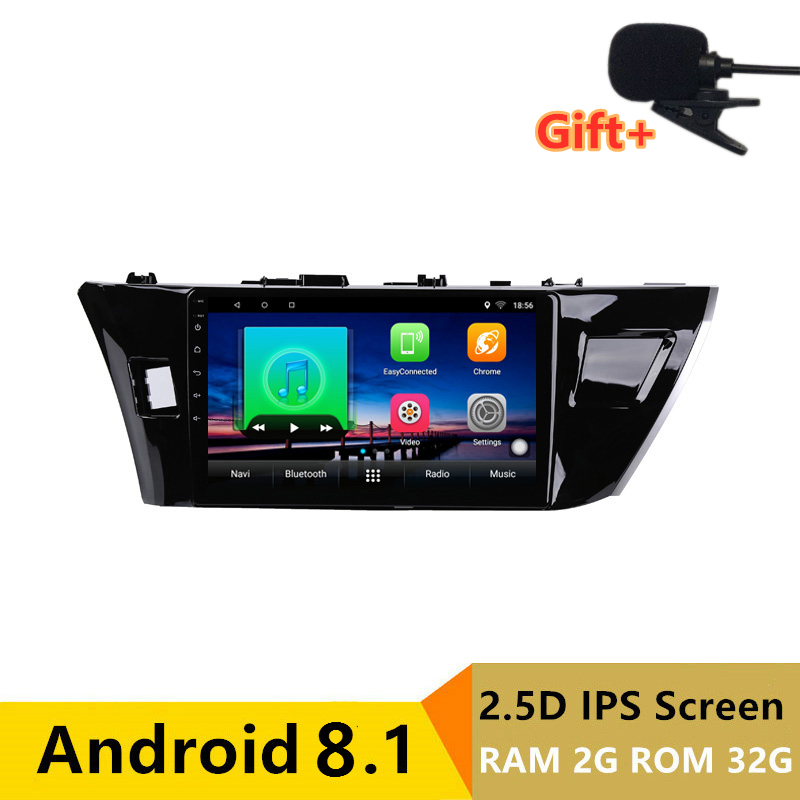 "10.1"" 2G RAM 32G ROM Android Car DVD Video Player GPS For Toyota Corolla 2014 2015 2016 audio car radio stereo navi bluetooth"