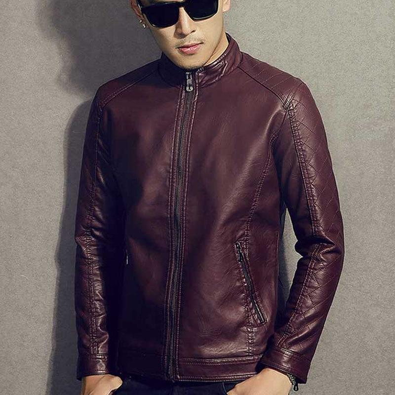 Men genuine leather jacket teenage boy 2018 new spring and autumn thin slim short male moto cow leather jacket biker black