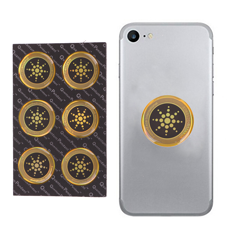 New 6pcs Shield Sticker Mobile Phone Sticker For Cell Phone Anti Radiation Protection from EMF Excel Anti-Radiation