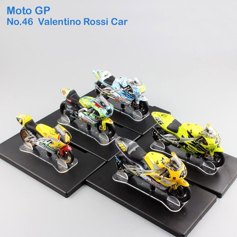 1:18 échelle Leo No 46 Valentino Rossi MotoGP Factory Racing Honda Aprilia Yamaha Championnat Moulé Sous Pression modèle de moto enfants jouets