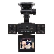 H3000 с Двумя Объективами DVR Автомобиля 2.0 дюймов TFT LCD Экран 270 Градусов Вращая и Объектив 8 СВЕТОДИОДНЫХ ИК Ночного Видения Двойная Камера Автомобильный Черный Ящик DVR